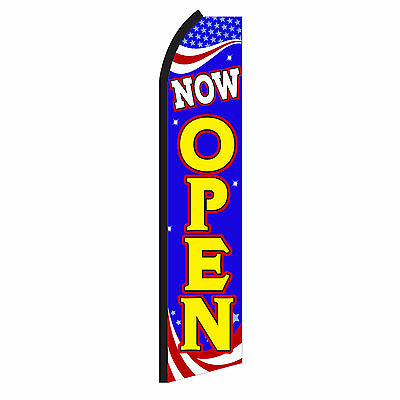 Now Open Banner Flag Sign Only Advertising Flutter Feather Swooper