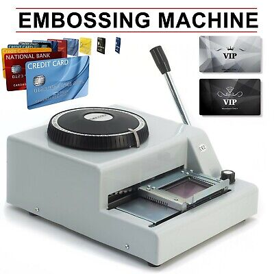 72 Letter Manual Embosser Machine Pvc Gift Card Credit Id Vip Embossing Machine