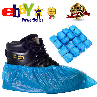5000 Blue Anti Slip Disposable Shoe Cover Plastic Cleaning Overshoes Boot Safety