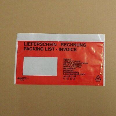 1.000 Lieferscheintaschen Docufix  DIN lang bedruckt