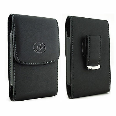 Vertical Leather Pouch FOR Boost Mobile Apple Phones fits w/