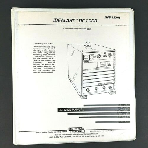 Lincoln Electric Idealarc DC-1000 Service Manual SVM123-A