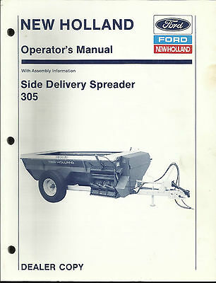 New Holland 305 Side Delivery Spreader Operators Manual