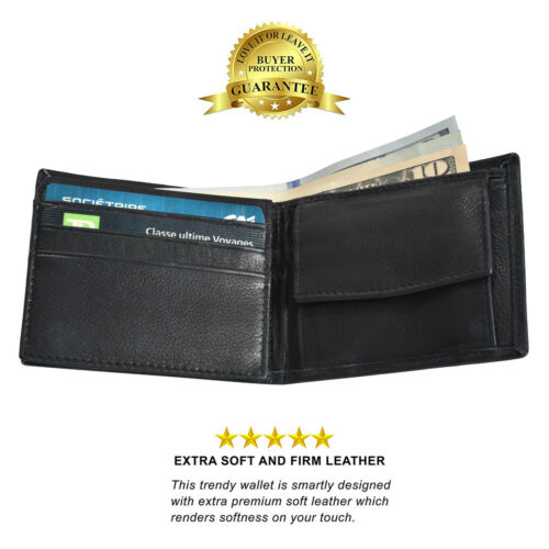 KIDS BOYS SLIM  COMPACT FLAP ID AND COIN POCKET BIFOLD WALLET BLACK