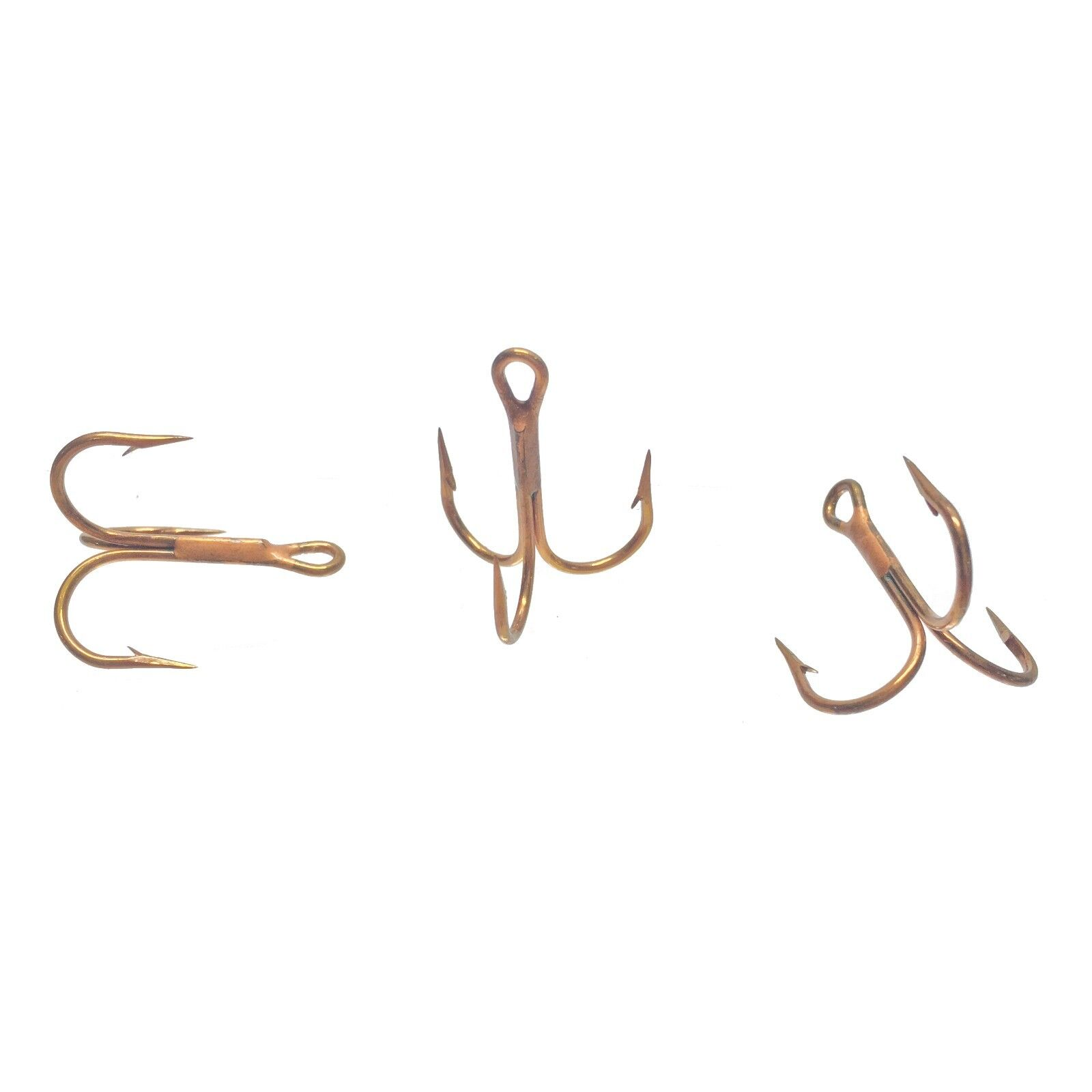 Size 10 EAGLE CLAW 954 3X-strong bronze treble Fishing Hooks 12