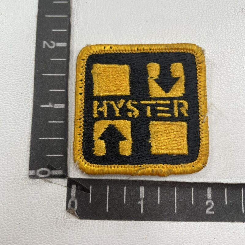 Vtg HYSTER Forklift Material Handling Ad Patch (Equipment, Machinery) 97T4