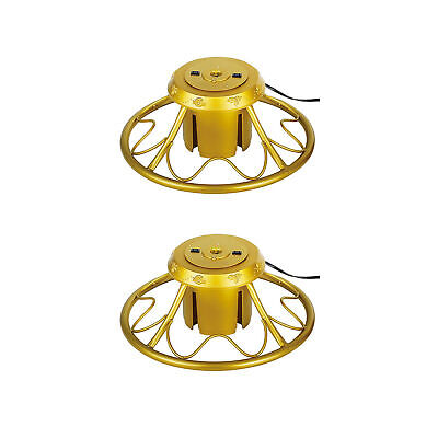 Home Heritage Golden Rotating Tree Stand for Trees up to 9 Feet Tall (2 Pack)