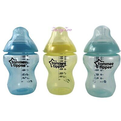 NEW 3 Tommee Tippee Baby Bottles  Age 0m+ BPA free 9 fl oz Slow Flow Anti Colic