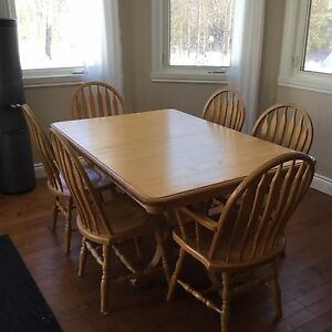 Solid Oak Table and Chairs - SOLD