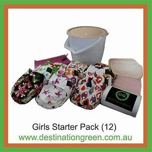12 Nappy Starter Pack (Modern Cloth Nappies) plus 24 inserts+ Beacon Hill Manly Area Preview
