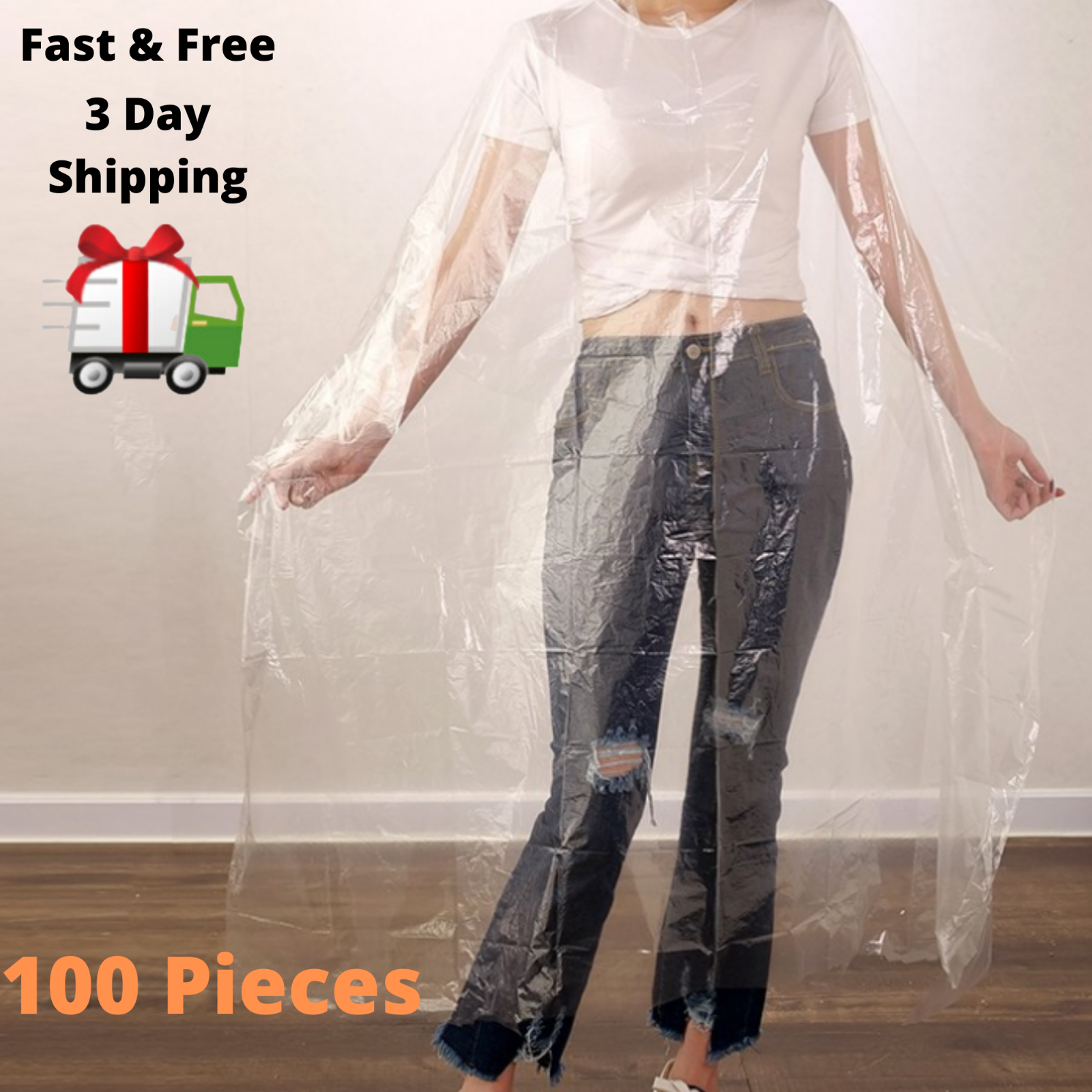 100 Pieces Disposable Hair Cutting Capes Hairdressing Barber