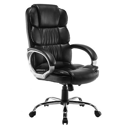 Present-day Black Luxury Boss Style Executive Office Computer High Back PU Chair