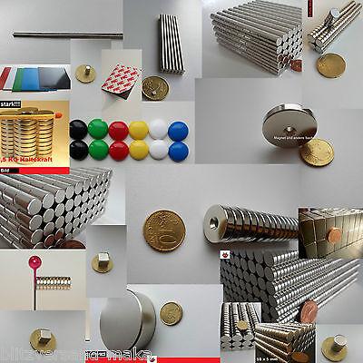 starke Magnete, Zylindermagnete, Buntmagnete, Würfel, Glasmagnete für Pinnwand..