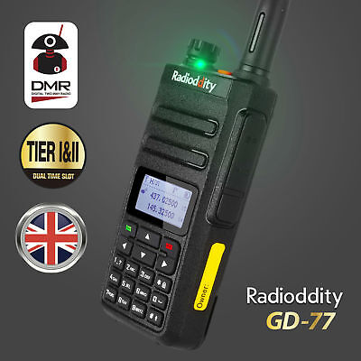 UK Radioddity GD-77 DMR Dual Time Slot V/UHF 1024CH Walkie Talkie Digital Radio