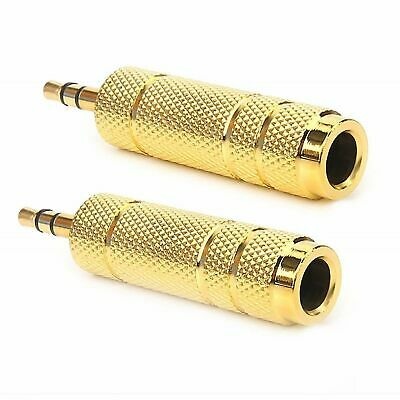 (2-Pack) 1/8 3.5mm Male to 1/4 6.3mm Female Stereo Headphone MIC Adapter Audio Cables & Interconnects