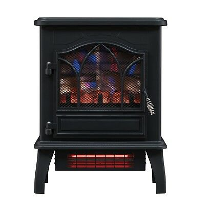 Home Chimney Free Infrared Quartz Electric Room Space Heater 5,200 BTU Electric
