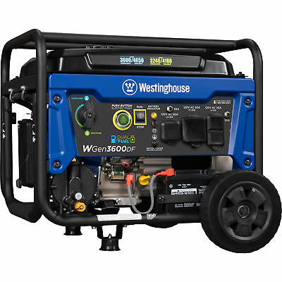 Refurbished Westinghouse Wgen3600df Dual Fuel Portable Generator