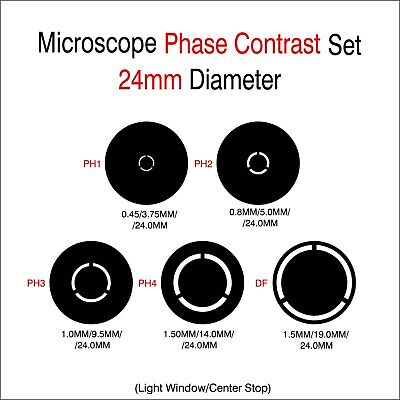 Microscope Phase Contrast Rings 24mm Diameter