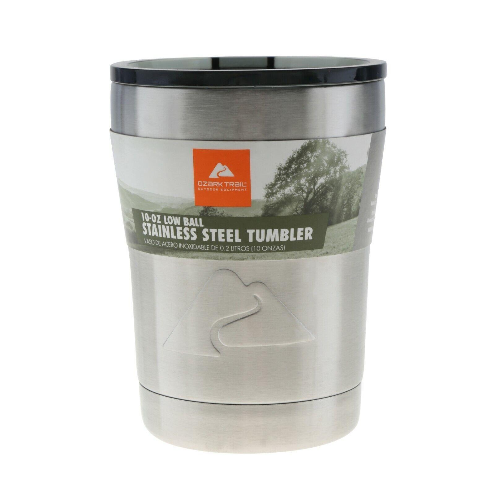 Ozark Trail 10oz Vacuum Insulated Stainless Steel Lowball Tu