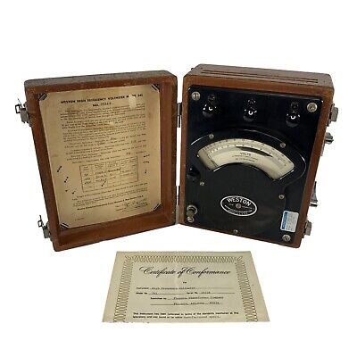 Weston Model 341 Antique 1955 Voltmeter Used As Is Collector Signed By M C Kunz