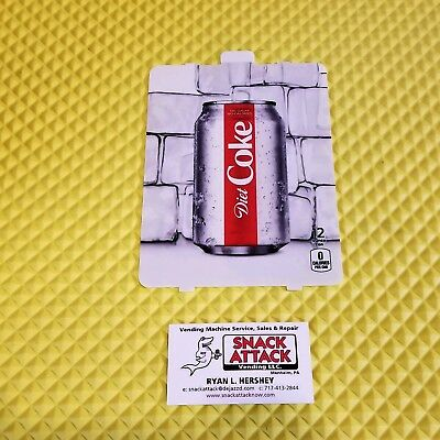 Dixie Narco 501e 276hvv Soda Vending Machine Diet Coke 12oz Can Vend Label