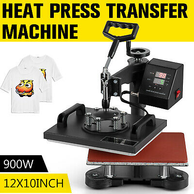 12x10 Digital Transfer Heat Press Machine T-shirt Sublimation Swing Away Diy