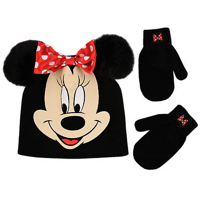 Disney Minnie Mouse Hat and Mittens Cold Weather Set, Toddler Girls, Age 2-4 (Mouse Mittens)