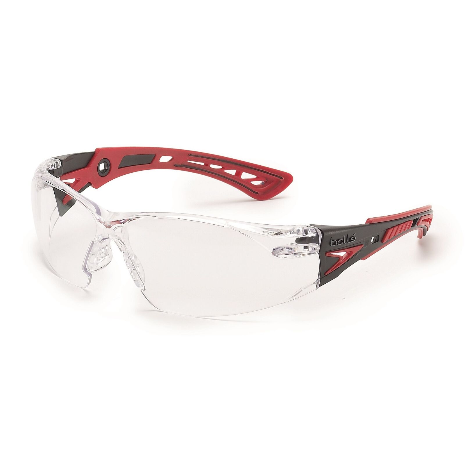 Bolle Clear Safety Glasses, Anti-Fog, Scratch-Resistant,