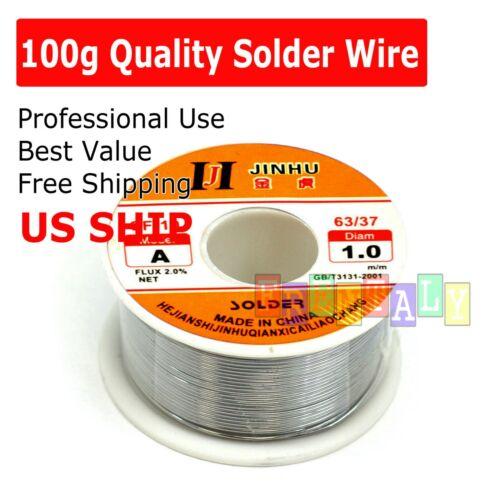 63/37 Tin Rosin Core Flux 1.0mm Diameter Soldering Solder Wire 100g 80ft