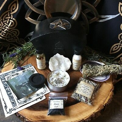 Witch Box Wicca Pagan Goddess Large Trinket box Altar Supplies Spell Kit ©
