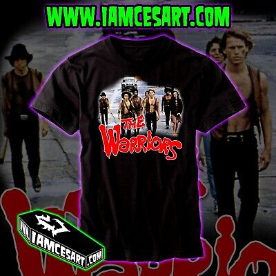 Halloween Movies Nyc (The Warriors Men's 100% Cotton DTG Tee movie classic NY NYC 1970s)