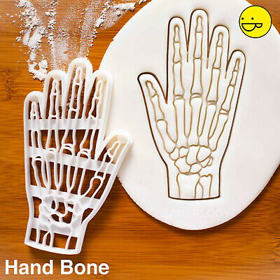 Bone Cookies For Halloween (Anatomical Human Hand Bones cookie cutter | for macabre lovers and spooky)