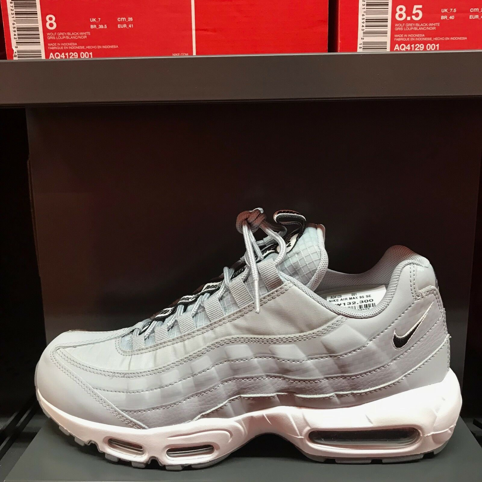 Mens Nike Air Max 95 Se Wolf Grey White
