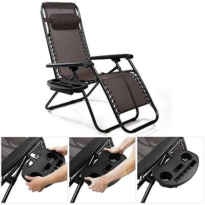 For sale Chair Lawn Black Cup Holder For Zero Gravity Patio Lounge Pool Beach Side Tray