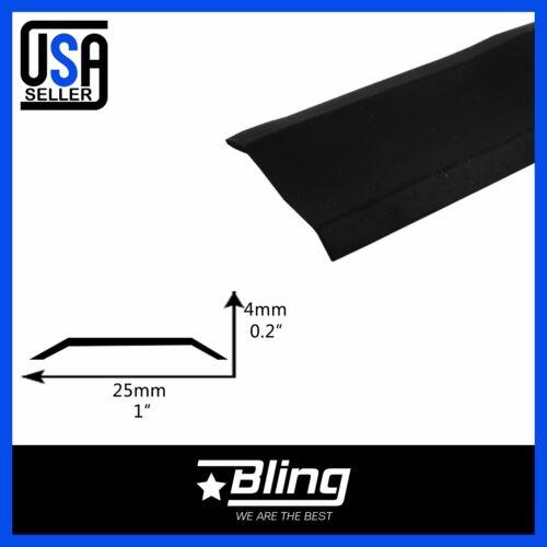 "78"" x1"" Vinyl Trim Flat Insert Mold Black RV Boat Camper Trailer Screw Cover"