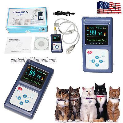 Handheld Veterinary Pulse Oximeter Spo2 Pr Monitor Vet Tongue Probeusb Software
