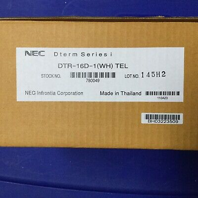 New Nec Dterm Series I Dtr-16d-1 Wh Business Telephones Stock 780049