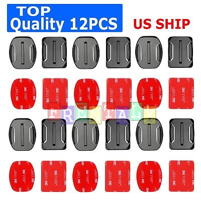 12X Helmet Front Mount Buckle & Stickers For Gopro Hero 6/5/4/3/2 3+Plus session
