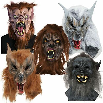 Werewolf Wearwolf Wolf Dog Halloween Horror Scary Mask Fancy Dress Costume