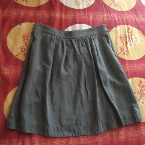 New Mango Olive Green Short Skirt With Pockets