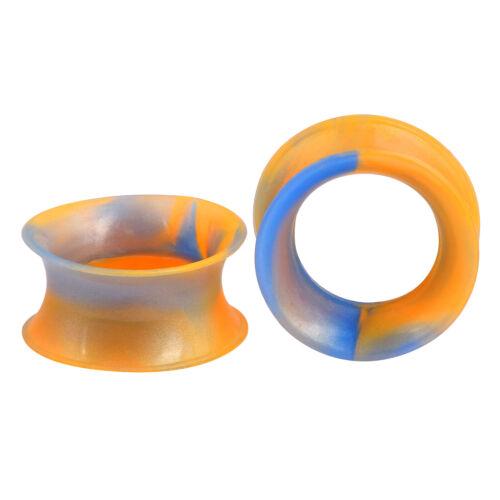 Pair Soft Silicone Flesh Ear Plugs Earrings