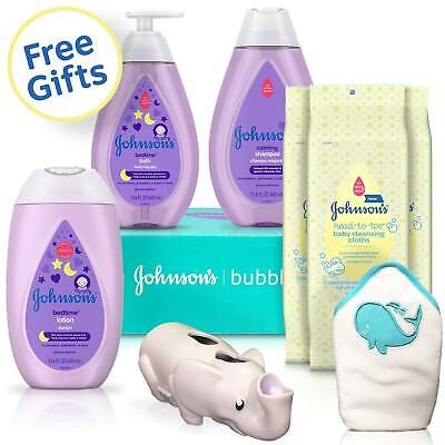 Johnson's baby bedtime gift set- shampoo, bath, lotion, wipe
