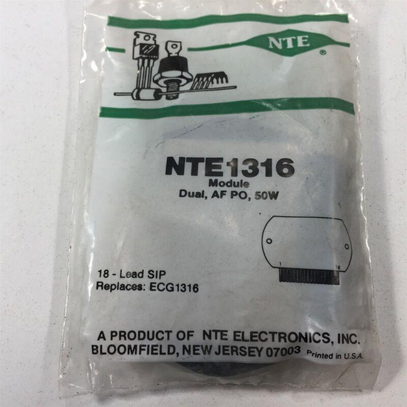 (1) NTE NTE1316 Integrated Circuit Module, Dual, AF PO, 50W