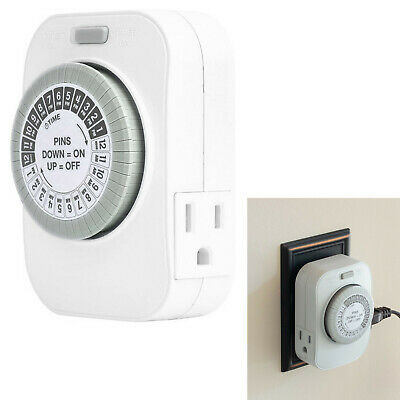 15A Amp UL Listed Hydroponics Indoor Gardening Grow Light Grounded Outlet Timer Electrical Outlets, Switches & Accessories