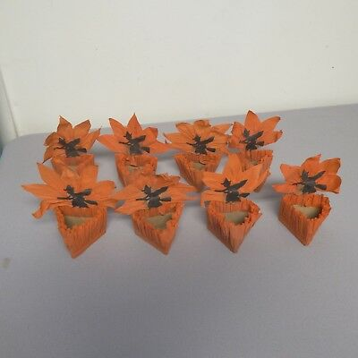 8 Vintage Crepe Paper Nut Candy Cups Halloween Witch Party Favors, Halloween](Halloween Candy Cup)