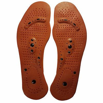 Magnetische zuschneidbare Akupressur Einlagen Schuheinlagen Einlegesohlen 35-44 ()