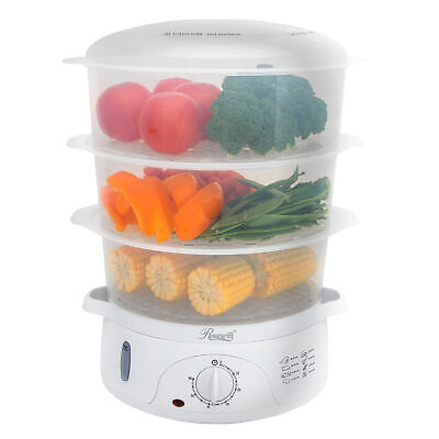 3-Tier Vegetable Food Steamer and Rice Cooker 9.5Qt BPA-Free with Turbo Steaming
