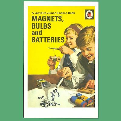 Postcard - Magnets, Bulbs And Batteries - Ladybird Book Cover Postcard