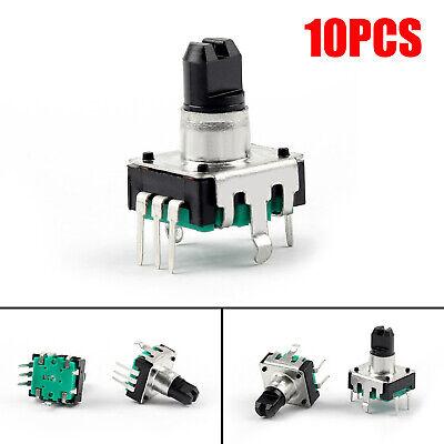 10pcs Rotary Encoder With Switch Ec12 Audio Digital Potentiometer 10mm Handle