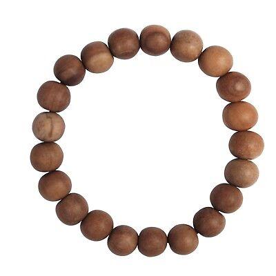 Exotic Beads Sandalwood 11-mm Scented Wood Bracelet 21-bead Red Elastic String
